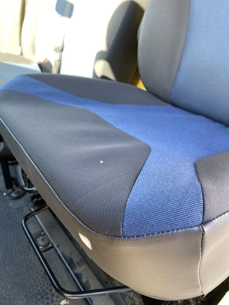 Siege Renault Trafic blue gris